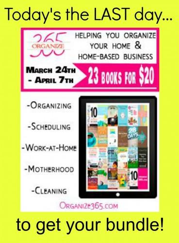 Less than $1 per book!! All Organized eBook Bundle Sale--ENDS APRIL 7th!